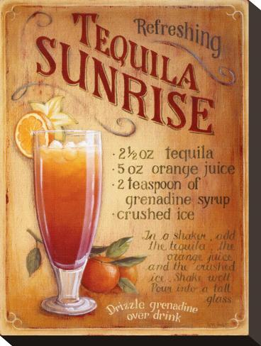Tequila Sunrise Stretched Canvas Print