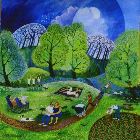Tai Chi in the Park (2009) Giclee Print