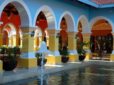 Lobby of Iberostar Resort, Mayan Riviera, Mexico Photographic Print