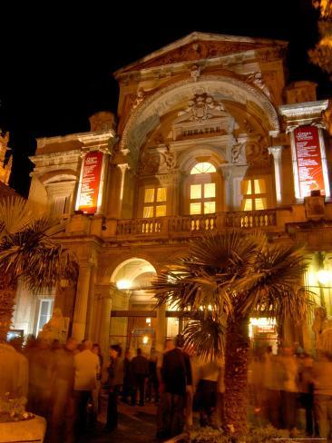 Opera Theatre at Night, Avignon, Provence, France Photographic Print