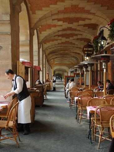 Sidewalk Cafe in the Marais, Paris, France Photographic Print