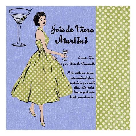 Martini Lady Art Print