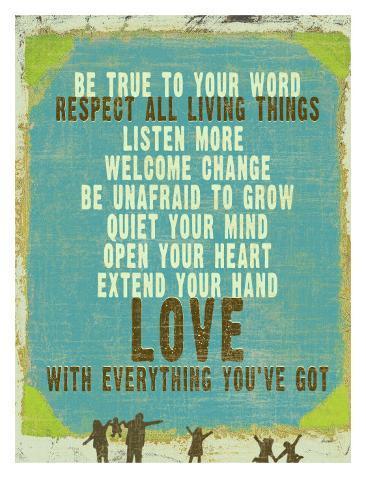 Be True Love Big Giclee Print