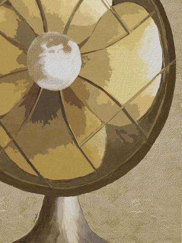 Stay Cool Vintage Fan Giclee Print