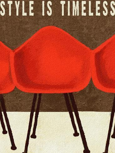 Style is Timeless Midcentury Chairs Giclee Print