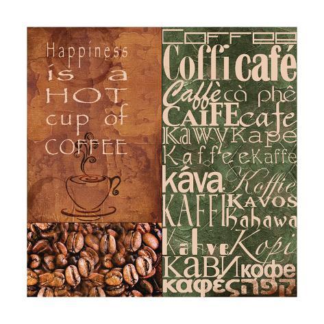 Coffee in Any Language Art Print