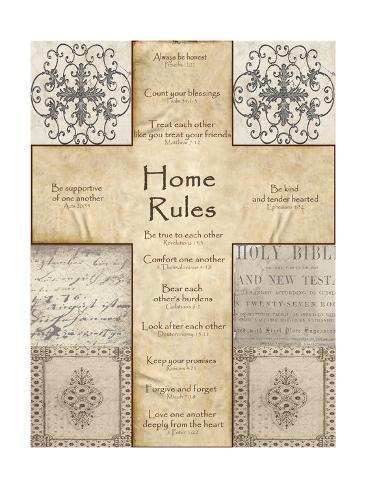 Home Rules Cross Lámina