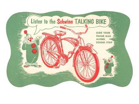 Listen to Schwinn Talking Bike Art Print