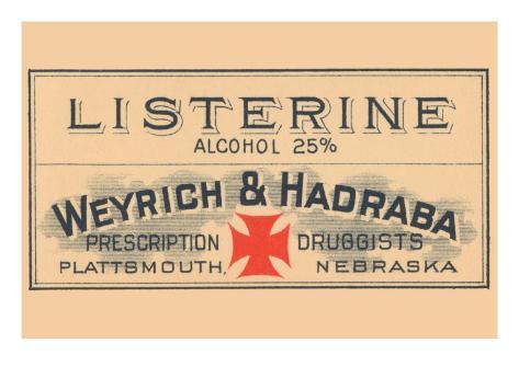 Listerine Alcohol 25% Art Print