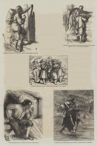 Literary Illustrations Lámina giclée