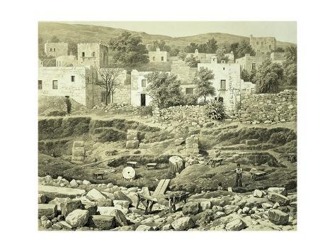 Lithograph of Excavations at the North Side of Quadrangle Lámina giclée