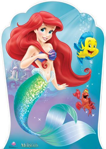 Little Mermaid - Ariel and Friends Lifesize Standup Cardboard Cutouts