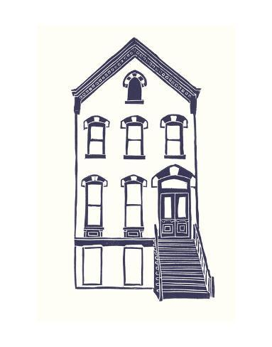 Williamsburg Building 5 (Next Door on Maujer) Art Print