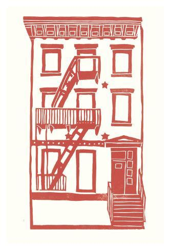Williamsburg Building 7 (S. 4th and Driggs Ave.) Art Print