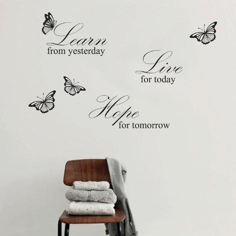Live Hope Quote Grey Adesivo de parede