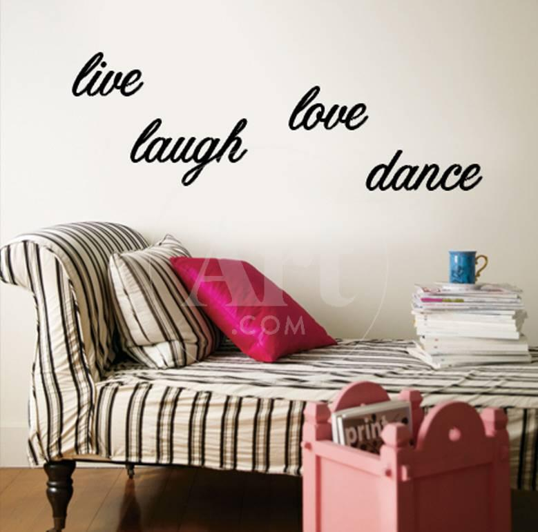 Live Laugh Love Dance Wall Decal At Allposters