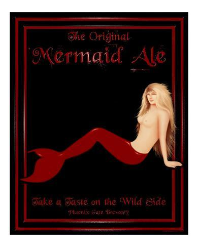 Mermaid Ale Stretched Canvas Print
