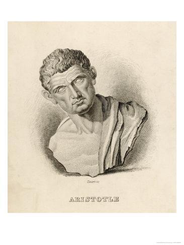 Aristotle Greek Philosopher: a Sculptured Head Giclee Print