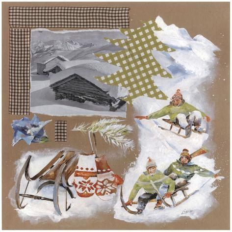 Luge Sapin Vert Art Print