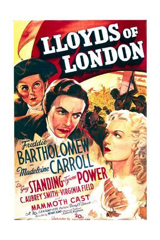 Lloyd's of London - Movie Poster Reproduction Stampa artistica