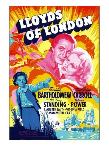 Lloyds of London, Tyrone Power, Madeleine Carroll, Freddie Bartholomew, 1936 Stretched Canvas Print