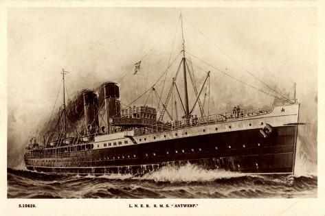 Lner, R.M.S. Antwerp, London and North Eastern Railway Giclee Print