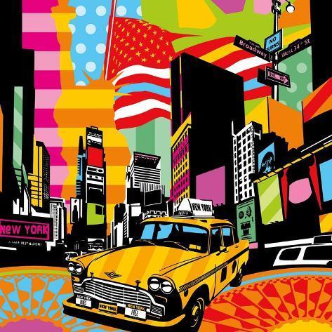 New York Taxi II Art Print