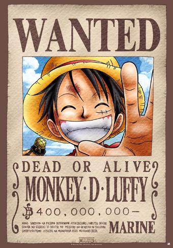 Locandina, Wanted Luffy Poster