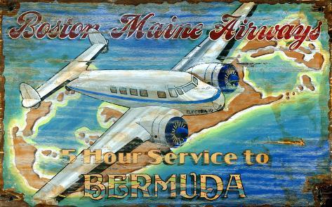 Lockheed Aviation Vintage Wood Sign
