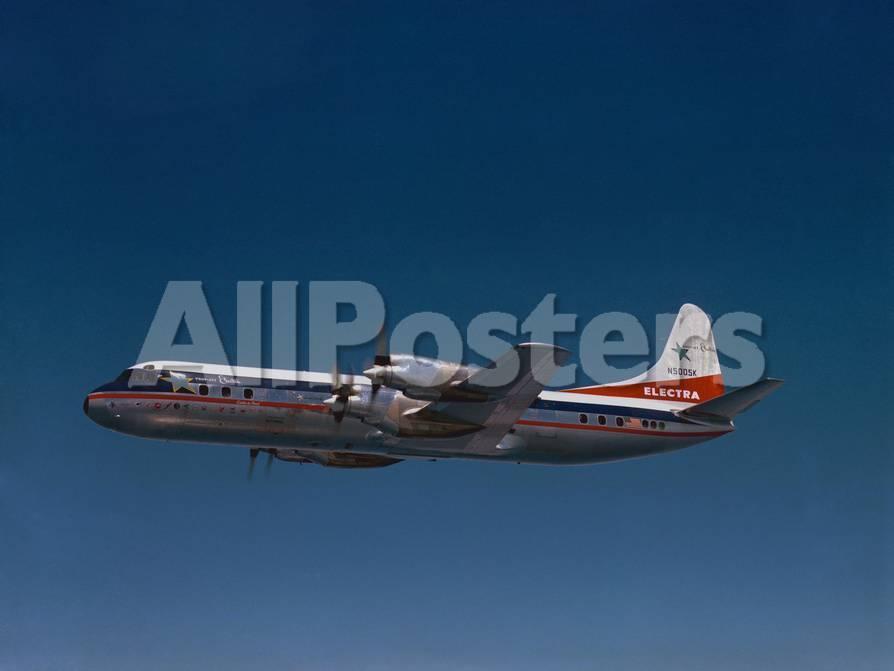 Lockheed L-188 Electra Airplane in Flight