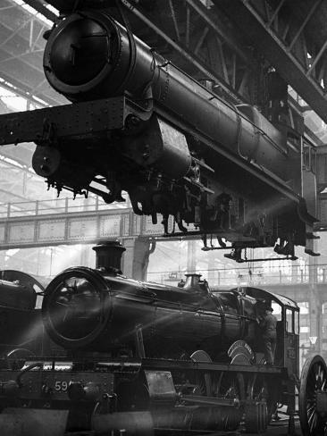 Locomotive Factory Photographic Print