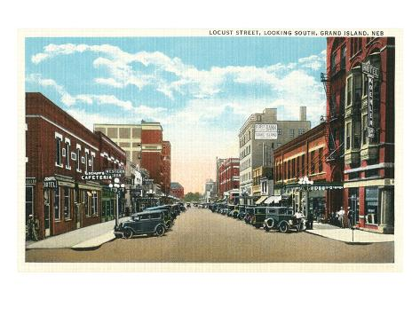 Locust Street, Grand Island, Nebraska Art Print