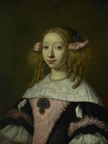Portrait of Adriana Jacobusdr Hinlopen, Wife of Johannes Wijbrants Art Print