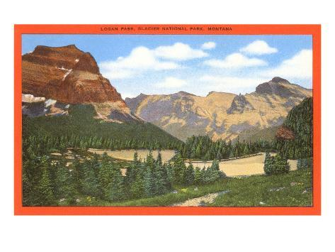 Logan Pass, Glacier National Park, Montana Art Print