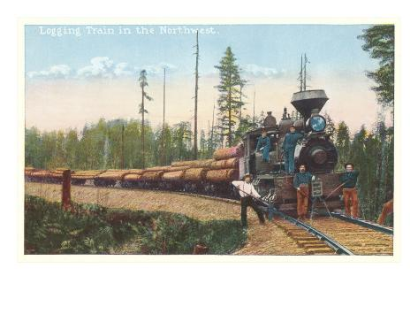 Logging Train in the Northwest Art Print