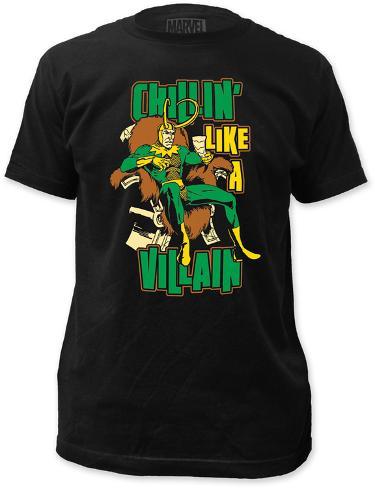 Loki - Chillin' Like a Villain (Slim Fit) T-Shirt