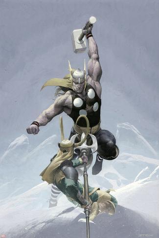 Loki No.3 Cover: Thor and Loki Poster