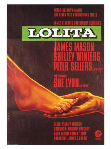 Lolita, German Movie Poster, 1962 Lámina