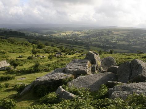 Dartmoor, View Southeast from Bonehill Rocks, Devon, England, United Kingdom, Europe Photographic Print