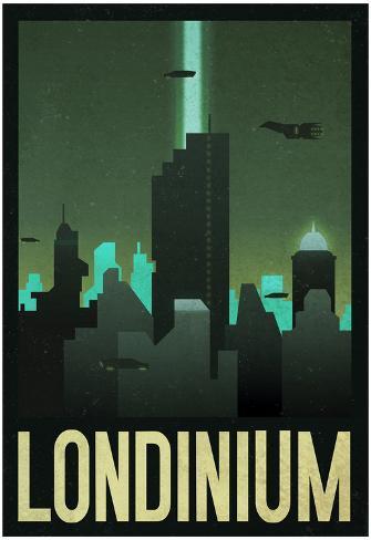 Londinium Retro Travel Poster Póster