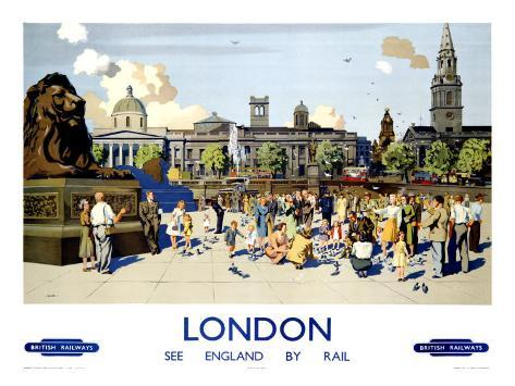 London British Rail Giclee Print