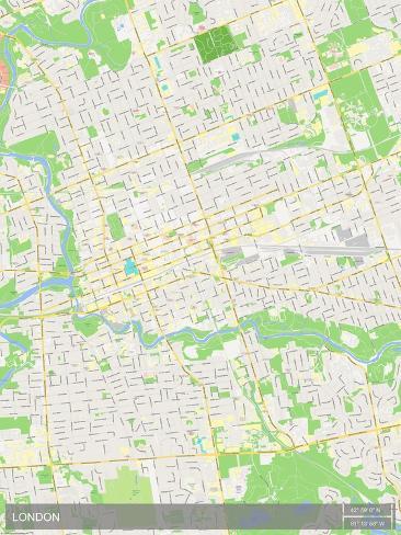 London Canada Map Prints AllPostersca