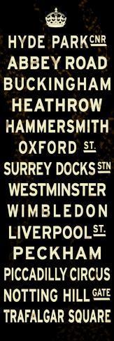 London Crown Sign Konstprint