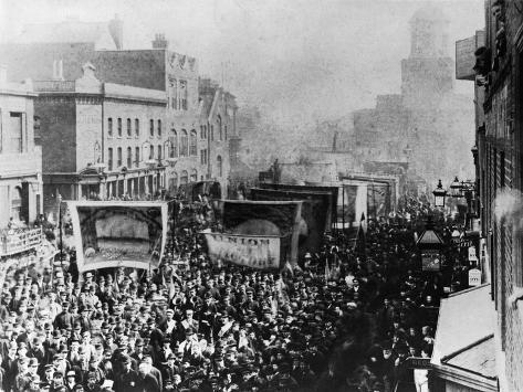 London Dock Strike, 1889 Lámina giclée