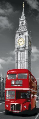 London Red Bus Door Poster