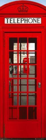 London - Telephone Box Door Poster