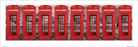 London-Telephone Boxes Art Print