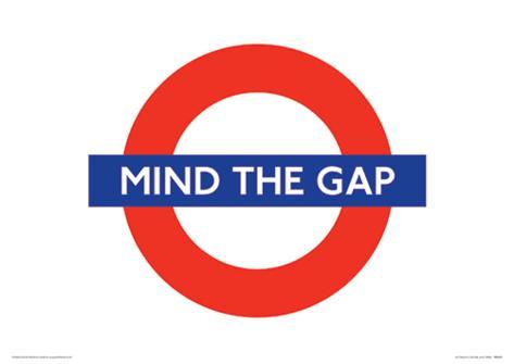 London Underground (Mind The Gap) Travel Poster Masterprint