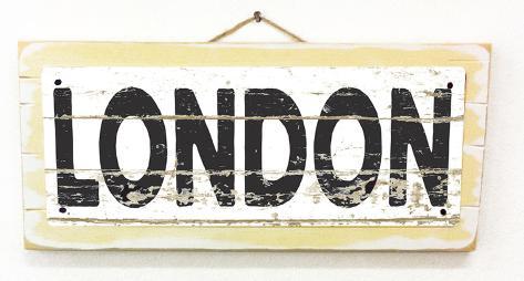 London Vintage Wood Sign