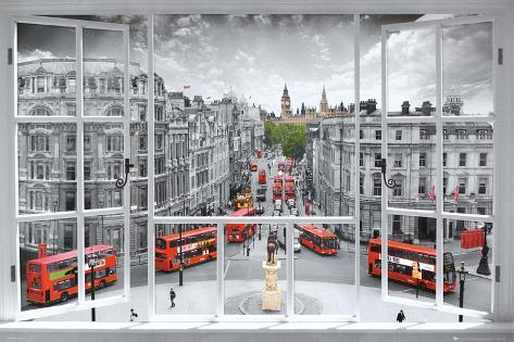 London Window Art Print Poster Poster